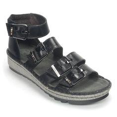 Begonia Sandal. Strappy SandalsWomen SandalsWedge SandalsShoes WomenNaot  ShoesLow WedgesBegoniaMetallic LeatherFashion Shoes