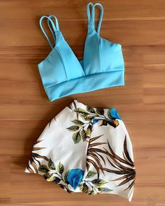 Jean Shorts, Style Me, Ideias Fashion, Casual Outfits, Crop Tops, Stylish, Pretty, Swimwear, Clothes