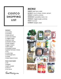 Easy Costco meal pla