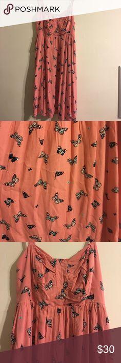Torrid Butterfly Dress Adorable dress for summer! Never worn! torrid Dresses
