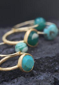 Bague Aurore turquoise