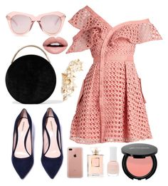 """Pink"" by lauraleeanne ❤ liked on Polyvore featuring self-portrait, Eddie Borgo, Karen Walker, Belkin, Twigs & Honey, Chanel, Charlotte Russe and Nevermind"