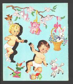 4 BABY DOLLS 1959 NEARLY UNCUT HILDA MILOCHE | eBay