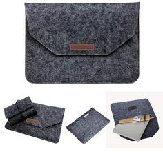 Luxury Wool Felt Notebook Adapter Power Bag For Macbook Pro Retina 13 15 Laptop Sleeve Handle Case For Macbook Air 11 12 13