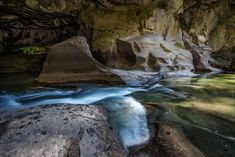 We spent an afternoon exploring the Little Huson Caves near Port McNeill on Vancouver Island. The caves feature limestone and rock arch formations and it was such an amazing place to explore! Vancouver Island, Photography Portfolio, The Good Place, Waterfall, Arch, Caves, Explore, Carrie, Outdoor