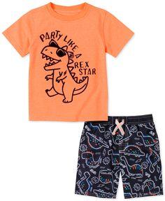 Kids Headquarters Toddler Boys Dino T-Shirt & Board Shorts Set - Assorted Toddler Boys, Kids Boys, Baby Kids, Baby Boy, Toddler Chores, Infant Toddler, Kids Nightwear, Kids Headquarters, Baby Sale