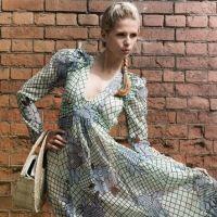 NEW Vintage Ossie Clark for Radley Voile Dress, print by Celia Birtwell