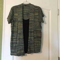 Shirt Multi Color Short sleeve Shirt. Black shirt built in with lace trim. 100% Cotton Rafaella Tops