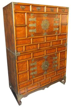 Antique Korean Two Section Chest with Stand, $2,250