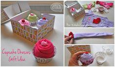 Cupcake Onesies Baby Shower Gift