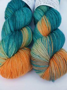 100% Superwash Merino Hand Dyed Fingering/Sock Yarn So by Quaere