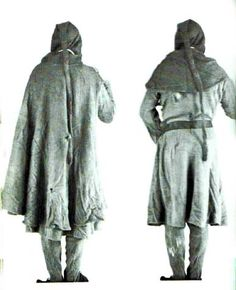 Bocksten Man - well preserved man's clothing 2nd half of 14th century, Vaberg Museum