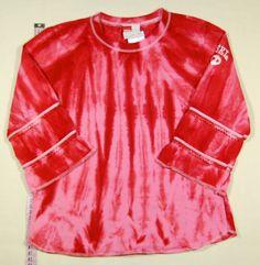 820 Ft.    Pulóver - piros-rózsaszín, batikolt Red Leather, Leather Jacket, Lany, Tie Dye, Jackets, Tops, Women, Fashion, Studded Leather Jacket