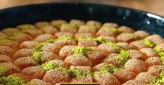 LOKMALIK iRMiK TATLISI tarifi NURSELin evinde yaptığim Hafif ŞERBETLi kolay nefis tatlı yemek tarifleri tatlılar irmik kesmesi nasıl yapılır semolina dessert recipe delicious yummy tasty taste sweet Allah Islam, Strawberry, Food, Essen, Strawberry Fruit, Meals, Strawberries, Yemek, Allah