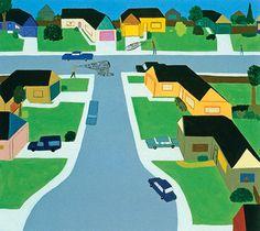 Chris Johanson - Suburban Landscape