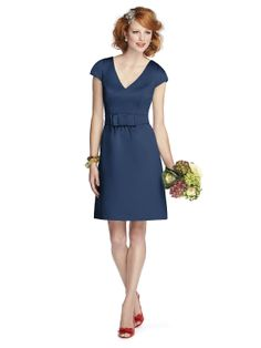 Sweet for an afternoon wedding. Midnight blue Style 5701. I would love this dress in purple or in black for my bridesmaids.