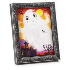 Framed Fiber-Optic Ghost Halloween Wall Art @ Papyrus