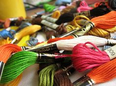 I could spend all day playing with colorful embroidery floss