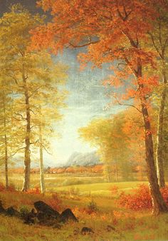 Autumn In America Painting by Albert Bierstadt makes me want to lay on a blanket right there