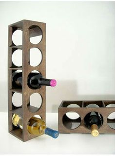 For wine storage in capacities from 2 to 48 bottles, we offer a broad range of small capacity wine racks. We have wooden wine racks, metal wine racks, hanging wine racks in many styles and configurations. Small Wine Racks, Bottle Cutter, Wine Bottle Opener, Cheap Wine, Home Upgrades, Wine Storage, Wood Veneer, Contemporary Interior, Wine Tasting