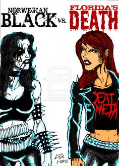 heavy metal metalhead memes | Black Metal Vs. Death Metal by ~ HeavyMetalArtwork
