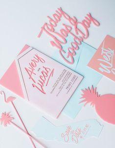 blush pink spring wedding invitations/ romantic girlish spring wedding invitations