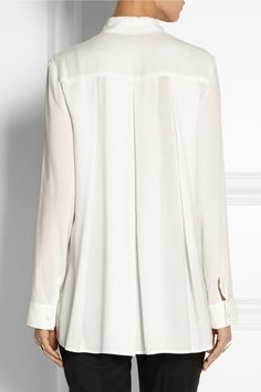 THE ROW Carlton oversized crepe blouse $790.00 http://www.net-a-porter.com/products/519395
