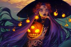 Image uploaded by BriBri Martinez. Find images and videos about art, Halloween and witch on We Heart It - the app to get lost in what you love. Halloween Flowers, Theme Halloween, Halloween Cookies, Art And Illustration, Grafiti, Witch Art, Character Design Inspiration, Cute Art, Amazing Art