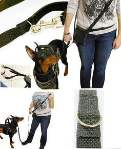 Now Available: Ultra Light Hands Free Crossbody Leash. Can be used 4 ways classic crossbody cross body with traffic lead(shown) around the waist or as a classic long leash (shown). This leash is strong but ultra light weight you wont even know you are wearing it perfect for chronic pain sufferers! Very comfortable to use.  Leash also has a traffic loop so even while being worn crossbody you still have an easy grip closer to your dog when needed loop can be tucked away into its elastic holder…