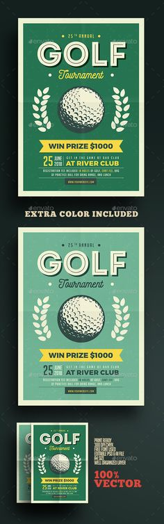 Golf Fundraiser Logo and Branding on Behance Alumni Awesomeness - golf tournament flyer template