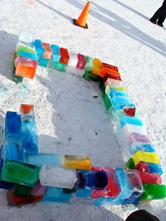 At the end of January students begin freezing 2 liter milk jugs filled with water and a bit of food colouring (a bit or it stains snowsui. Snow Activities, Winter Activities For Kids, Winter Games, Winter Kids, Winter Christmas, Preschool Activities, Diy For Kids, Crafts For Kids, Diy Crafts