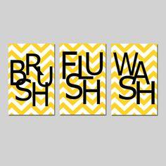 Kids Bathroom Wall Art Print Set  Pick THREE 11x17 by Tessyla, $65.00