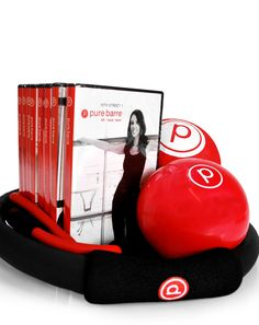 Feed my pure barre obsession at home: 8 Pure Barre DVDs (Pershing Square 1 & Lowry Lofts 1 & 2 Street 1 & and Flatirons 1 & Pure Barre logo ball, Pure Barre Sand Ball, Pure Barre fitness ring and the double tubing. Barre Workout, Workout Rooms, Barre Moves, Fitness Tips, Fitness Motivation, Barre Fitness, Fitness Products, Workout Fitness, Fun Workouts
