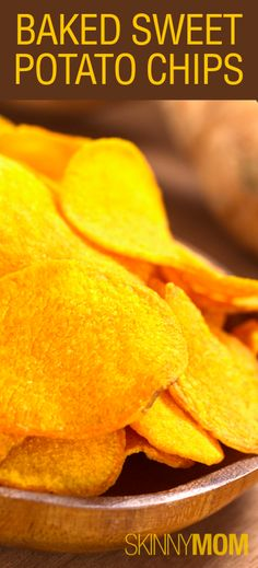 Baked Sweet Potato Chips!!! These are to DIE for :)