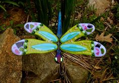 Kirks Glass Art Fused Stained Glass Dragonfly by kirksglassart, $59.00