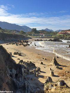 Peculiar rocks at the Toró beach in Llanes, Asturias, Spain.