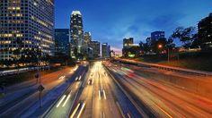 Cinemagraph - Los Angeles, Night City Freeway 110 Traffic Downtown LA. 4K UHD Timelapse Motion Photo. Stock Footage Video 12692822 - Shutterstock