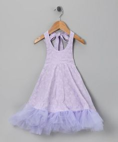 Another great find on #zulily! Lavender Daisy Halter Dress - Infant by CyBaby #zulilyfinds