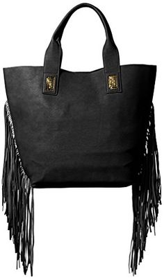 Urban Originals Women's Cali Fringe Tote, Black >>> Continue to the product at the image link.
