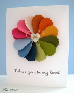 Great use of a heart punch or die.  Would work with a a scalloped oval too. pretty idea
