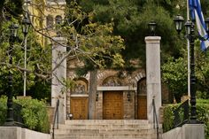 The Byzantine temple of Asomaton Petraki Monastery. Vertical City, Modern City, Concert Hall, Neoclassical, Byzantine, Worms, Athens, The Locals, Temple