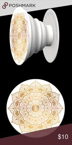 """Golden Silence PopSocket ❤️❤️ Add a single PopSocket, or a pair of PopSockets, to the back of almost any mobile device to transform its capabilities. PopSockets """"pop"""" whenever you need a grip, a stand, an earbud-management system, or just something to play with. This super cute PopSocket features a Gold design. Limited Quantities! PopSocket Accessories Phone Cases"""