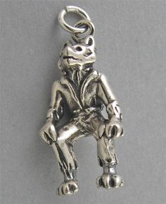 New Sterling Silver 925 Charm Pendant 3D WOLFMAN WEREWOLF HALLOWEEN 3049 #Traditional