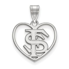 Solid 925 Sterling Silver Mississippi State University Small Pendant 13mm x 19mm