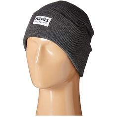 62be46696c7 Puppies Make Me Happy Puppies Beanie (Charcoal) Beanies ( 20) ❤ liked on