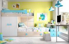 Rimobel Mundo Joven contemporary bunk bed with guest bed, wardrobe and desk