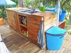 Pallet Outdoor Kitchen #Kitchen, #Outdoor, #RecycledPallet