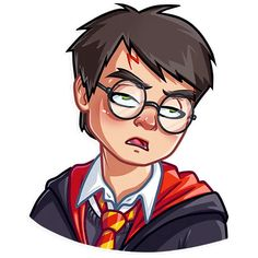 """""""Harry Potter"""" stickers set for Telegram Telegram Stickers, Planner Stickers, Harry Potter Stickers, Harry Potter Style, Man Character, Girl And Dog, Illustration Art, Guys, Drawings"""