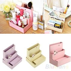 Foldable Mini DIY Paper Board Storage Desk Decor Stationery Organizer Makeup Cosmetic Box Hot Sale US $2.33