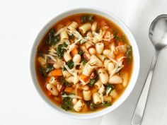 Pasta, Kale and White Bean Soup Recipe : Food Network Kitchens : Food Network - FoodNetwork.com